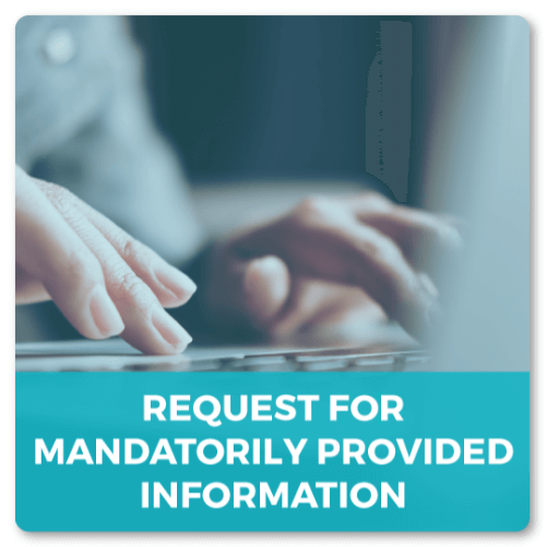 Request For Mandatorily Provided Information