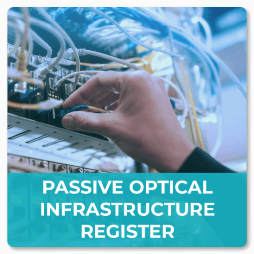 Passive optical infrastructure register of the Prague City Hall